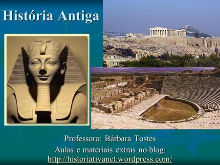 Professora: Bárbara Tostes