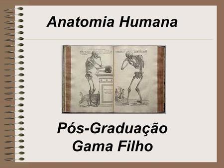 Anatomia Humana Pós-Graduação Gama Filho.