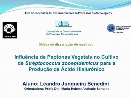 Laboratório de Desenvolvimento de Processos Biotecnológicos Aluno: Leandro Junqueira Benedini Orientadora: Profa Dra. Maria Helena Andrade Santana Influência.