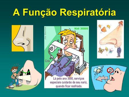A Função Respiratória. O ar contem oxigénio que é indispensável à vida À Entrada e saída de ar do organismo dá-se o nome.