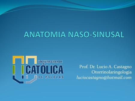 Prof. Dr. Lucio A. Castagno Otorrinolaringologia