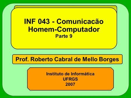 INF Comunicacão Homem-Computador Parte 9