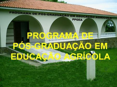 PROGRAMA DE PÓS-GRADUAÇÃO EM EDUCAÇÃO AGRÍCOLA. Artigos para Análise e Discussão Prof. Gabriel de Araújo Santos A maldição do petróleo.